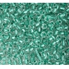 Pony Bead 6/0 Crystal Green Lined Metallic Dyed